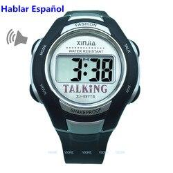Espanhol falando relógio para os cegos e idosos esportes eletrônicos falar relógios