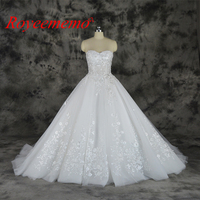 2018 Special Lace New Design Wedding Dress Sleeveless Bridal Gown Sweetheart Neck Line Wedding Gown Factory