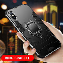 Finger Ring Holder Phone Case For iPhone XR X XS Max 8 7 Plus 6 6S SE 5 5S Magnetic Cases Shockproof Armor TPU Protective Cover цена и фото