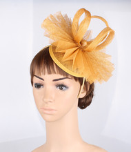 Free shipping 17 colors avaliable kentucky derby sinamay fascinator hats good bridal wedding hats cocktail hat