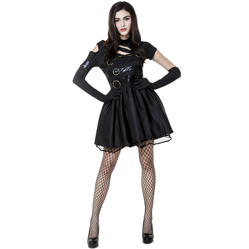Woman Adult Black Miss Scissor Hands Monstrously Kind Creatures Of  Favorite Story Halloween Cosplay Fancy Costume