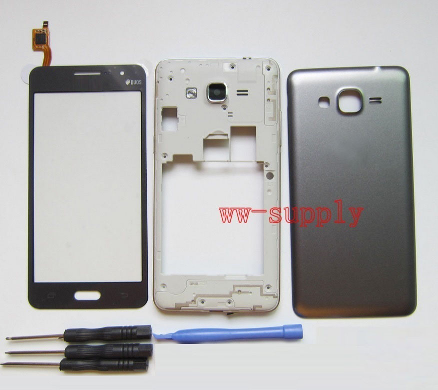 For Samsung Galaxy Grand Prime SM-G531H G531H/DS Housing Front Chassis Frame+Battery Cover+Touch Screen Digitizer Sensor +KitsFor Samsung Galaxy Grand Prime SM-G531H G531H/DS Housing Front Chassis Frame+Battery Cover+Touch Screen Digitizer Sensor +Kits
