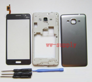 For Samsung Galaxy Grand Prime SM-G531H G531H/DS Housing Front Chassis Frame+Battery Cover+Touch Screen Digitizer Sensor +Kits for samsung galaxy grand prime plus j2 prime housing front frame chassis camera lens battery cover touch screen sensor g532