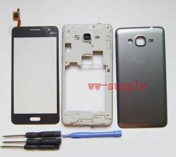 8f9cfd618f5 Para Samsung Galaxy Grand Prime SM-G531H G531H/DS carcasa Marco de chasis  frontal + cubierta de batería + digitalizador de pantalla táctil sensor +  ...