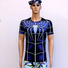 Spiderman Riding Fast Dry Air Movement Anti UV High Elastic Short Sleeved T-Shirt Shirt Sweat Tights Sport Outdoor Riding Jacket