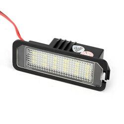 2 sztuk samochodów doprowadziły światło do tablicy rejestracyjnej lampa 12V LED białe światło dla VW Golf 5 6 7 Passat dla Audi A3 A4 B6 B7 A5 A6 dla BMW E46
