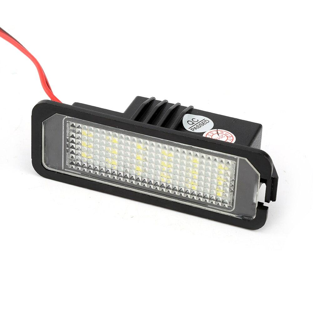 2pcs Car LED License Number Plate Light Lamp 12V LED White Light For VW Golf 5 6 7 Passat For Audi A3 A4 B6 B7 A5 A6 For BMW E46