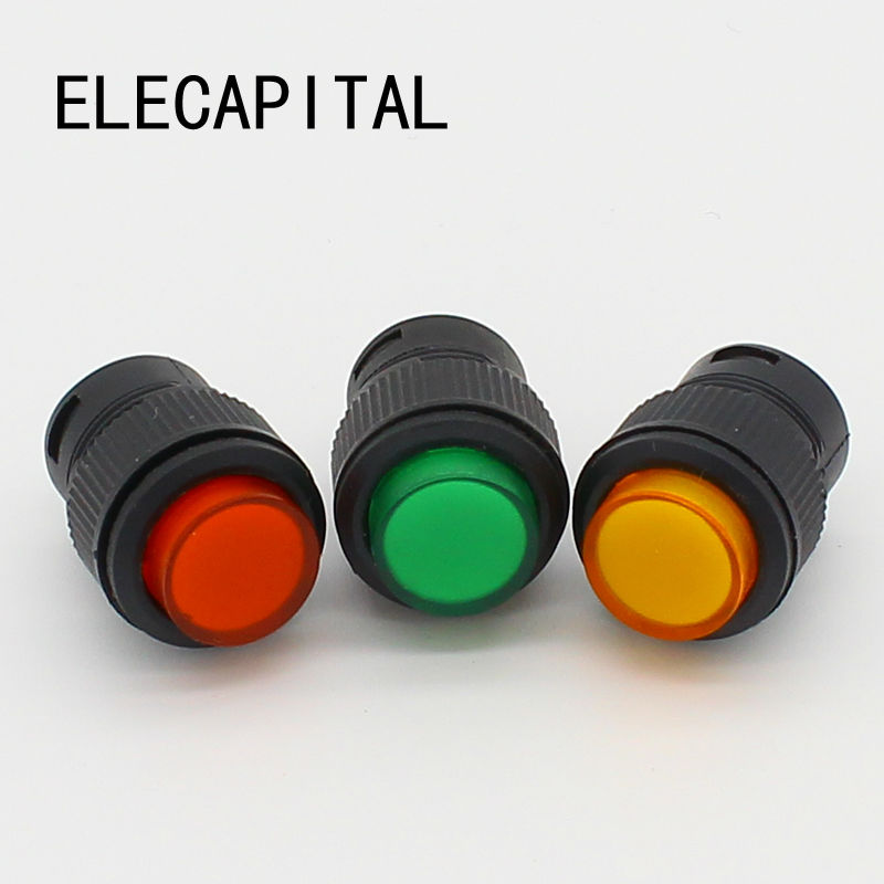 16mm Self-locking push button switch with LED ON-OFF стоимость