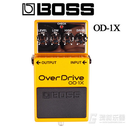 цена Boss Audio OD-1X Overdrive Guitar Overdrive Pedal Stompbox Effect with MDP (Multi-Dimensional Processing)