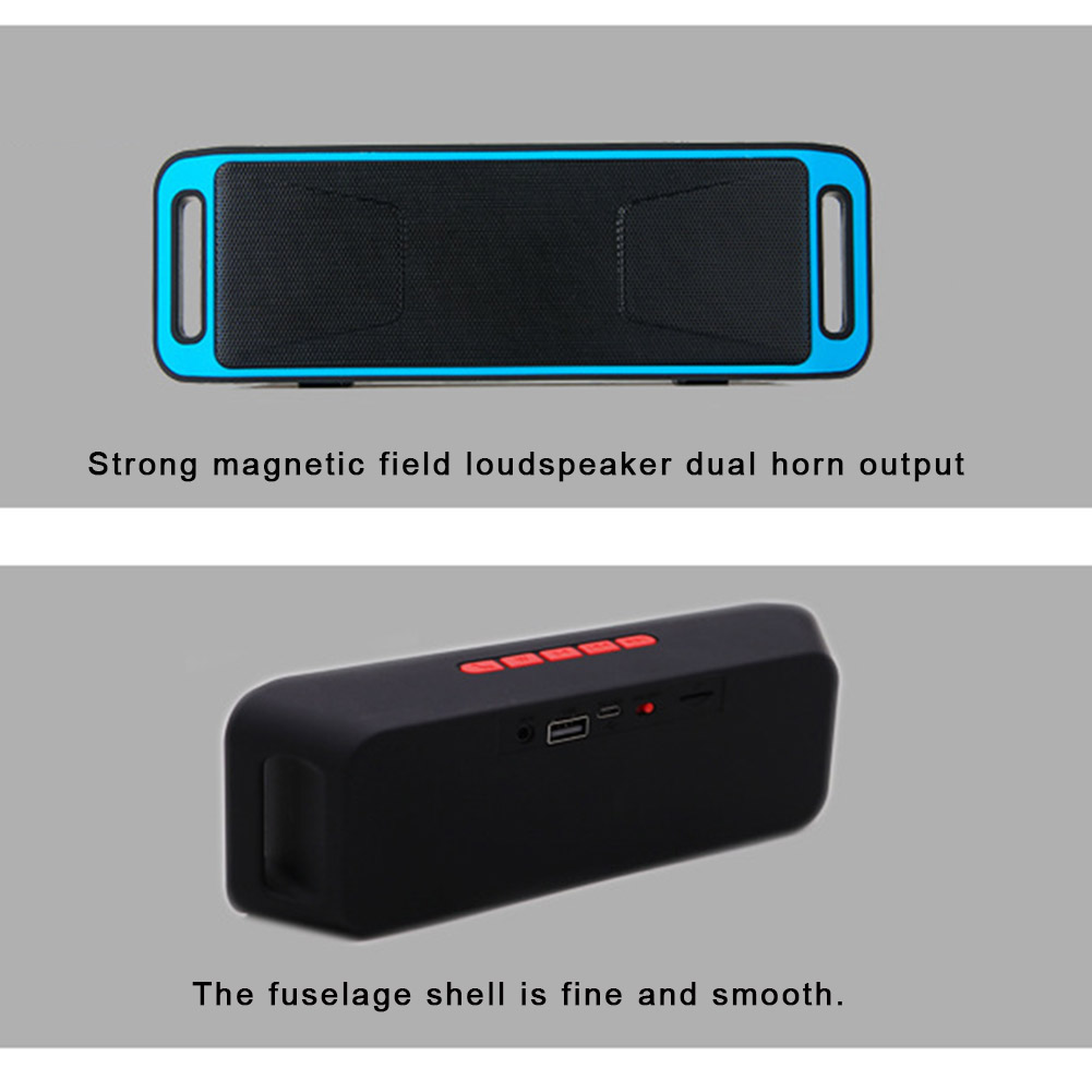 Kisronda SC208 Portable Wireless Bluetooth Speaker With Hands-Free Calling For Phones 7