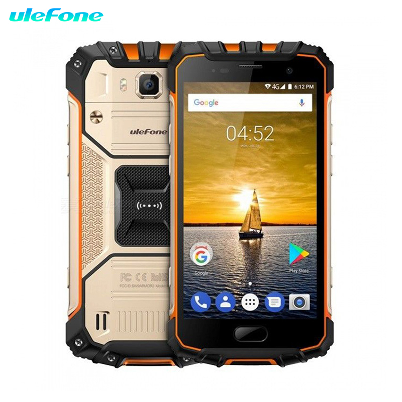 Ulefone Armor 2 téléphone portable étanche IP68 NFC 5.0 pouces FHD MTK6757 Octa Core Android 7.0 6 GB RAM 64 GB ROM 16MP 4G Smartphone