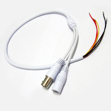 10x 60cm Power Video Cable BNC & DC Connector to Stripped Wire cctv end cable with Terminals 1.25P for CCTV Camera