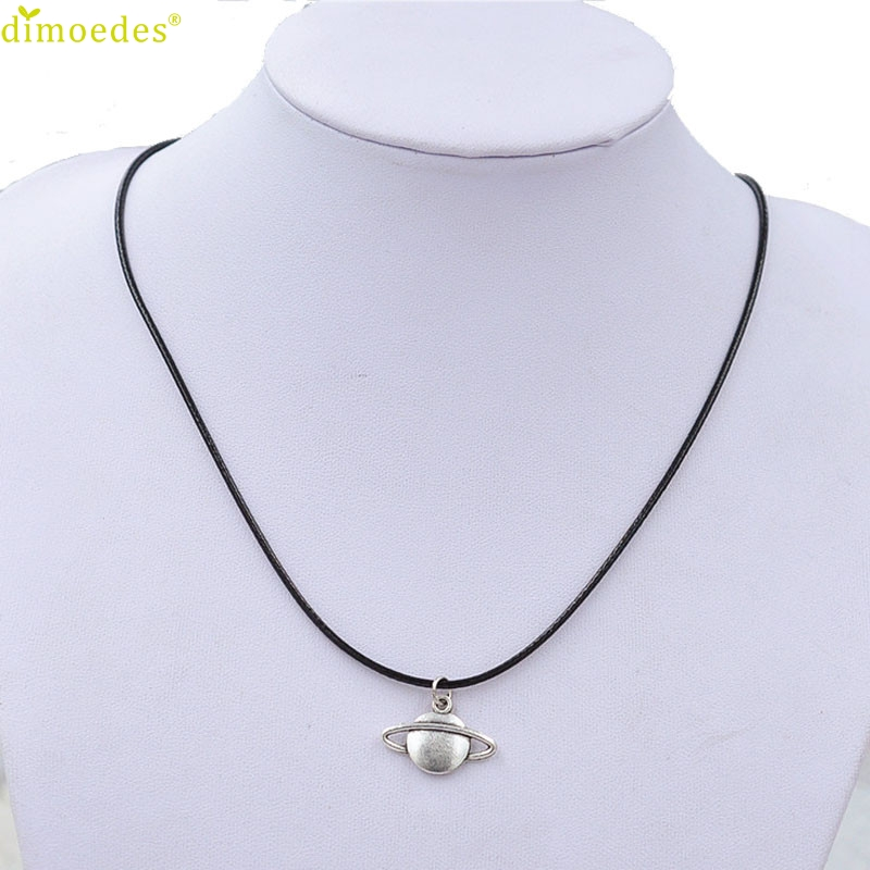 Diomedes Saturn Necklace Cord-Choker Charm Sexy-Chain Pendant Black Retro Gift-Accessories