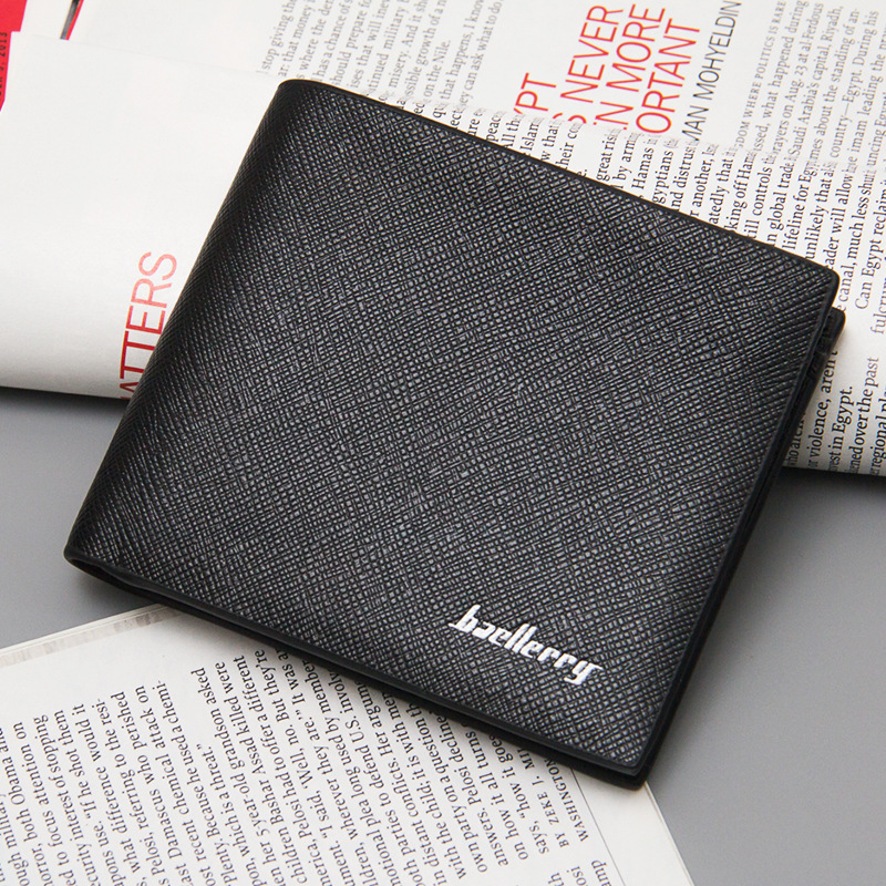 Brand Baellerry Vintage Men Short Wallet Slim Money Coin Purses Male PU Leather Billfold Pocket Passport Card Holders Case Clips