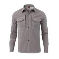 Shanghai Story Men's Shirts Warm Long Sleeve Shirt 100% Cotton S XXL Man's Loose Breathable Anti wear Working Cargo Shirt