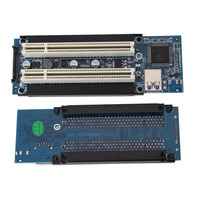 PCI E Express X1 To Dual PCI Riser Extend Adapter Card With 1M USB3 0 Cable