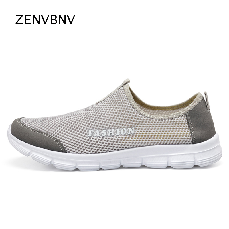 Zenvbnv 36 47 Summer Breathable Comfortable Mesh Male Running Shoes Lover s Trainers Walking Outdoor Sport