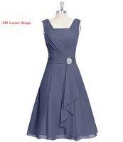 Новый серый линия коктейльное платье шифоновое Вечерние платья Коктейльные Вечерние Короткие Платья для женщин Праздничное платье курто