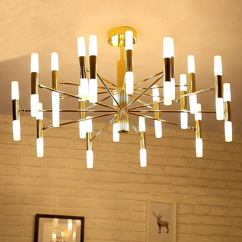 Post-modern designer personality LED living room chandelier Nordic bedroom crystal glass restaurant lighting creative lighting 6 e27 heads nordic post modern designer originality personality art living bed room cafe fashion led chandelier home decor light