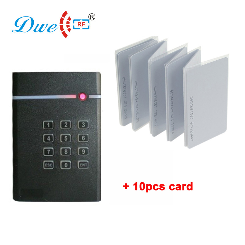 DWE CC RF access control card reader RFID smart card readers proximity number keyboard reader with chip cards