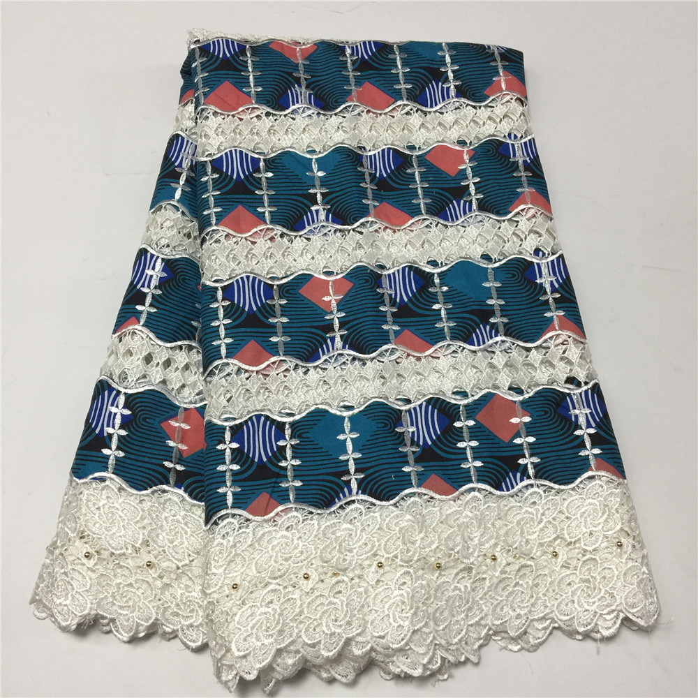HFX Ankara fabric new design african wax with cord lace embroidered wax prints fabric for women dress 6ayrds per lot GF344-2HFX Ankara fabric new design african wax with cord lace embroidered wax prints fabric for women dress 6ayrds per lot GF344-2