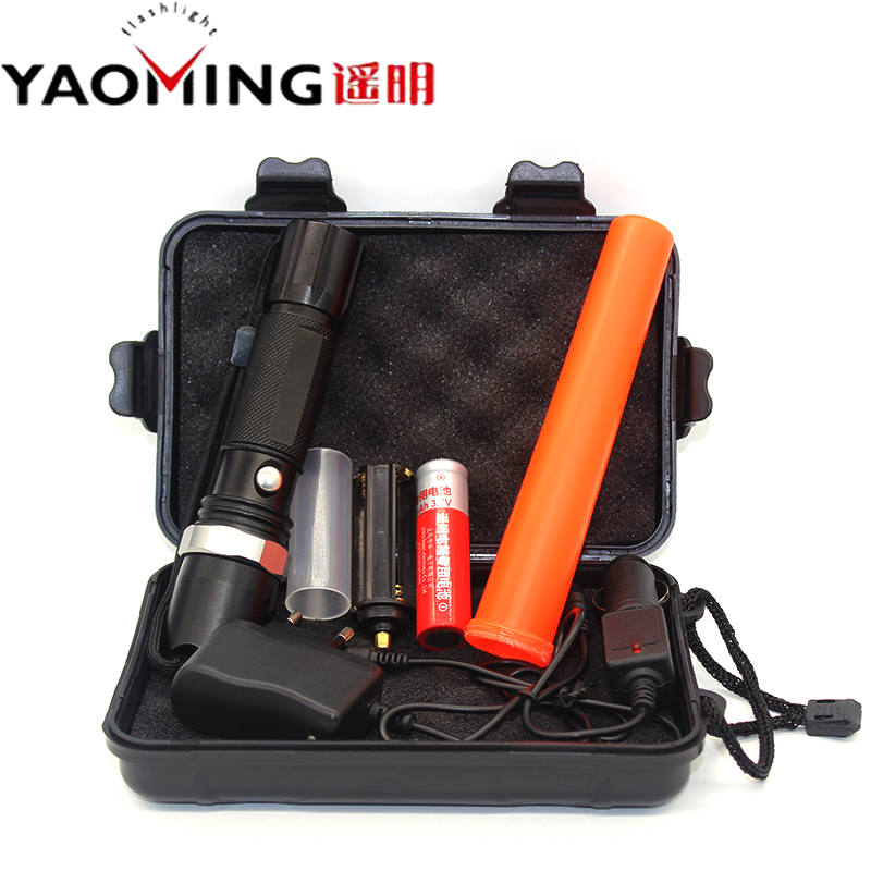 CREE Q5 2000LM Led Flashlights Set Police Baton Led Torch Lanterna Lamp Light 18650/AAA Battery Rechargeable Tactical Flashlight lumiparty 4000lm headlight cree t6 led head lamp headlamp linterna torch led flashlights biking fishing torch for 18650 battery