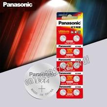 Panasonic 10 шт. 1,5 V аккумулятор таблеточного типа lr44 Литиевые Батарейки-таблетки A76 AG13 G13A LR44 LR1154 357A SR44