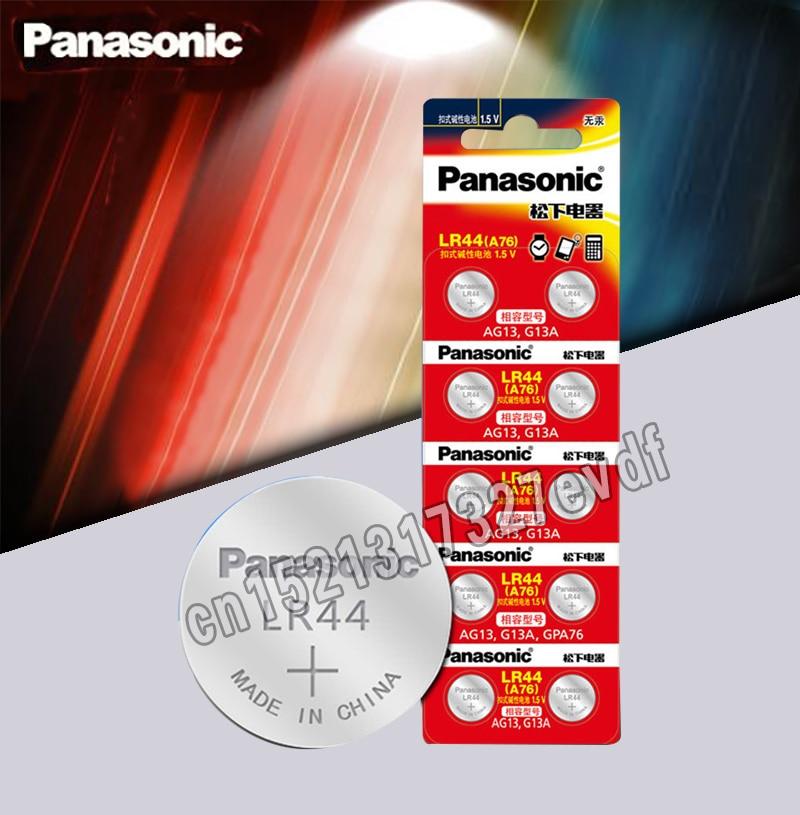 Panasonic 10pcs 1.5V Button Cell Battery Lr44 Lithium Coin Batteries A76 AG13 G13A LR44 LR1154 357A SR44 100% Original
