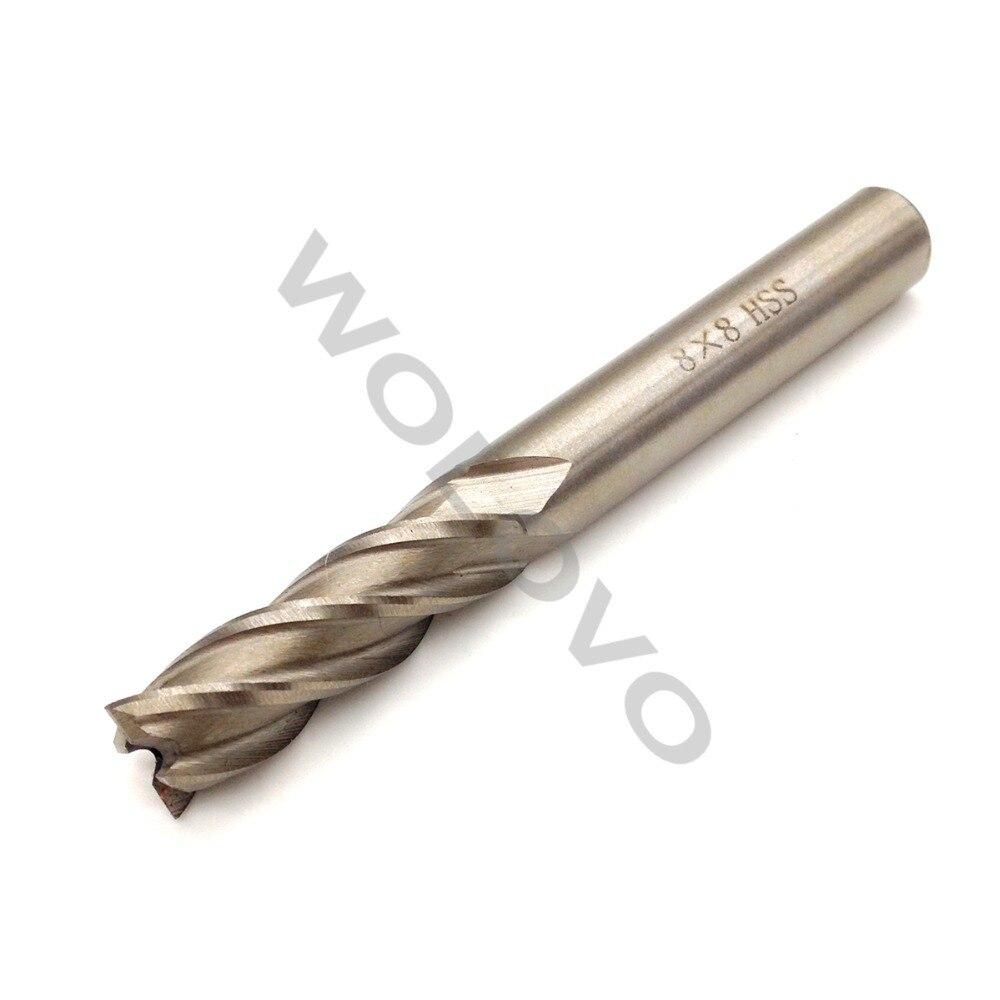 8 мм HSS CNC с прямым хвостовиком, 4 флейты, Концевая фреза, фреза, сверло|milling cutter|4 flute end millflute end mill | АлиЭкспресс