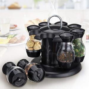 Image 2 - Salz Und Pfeffer Schüttler Set Von 8 Flaschen Mit 360 ° Rotierenden Halter Salz & Pfeffer Shaker Set