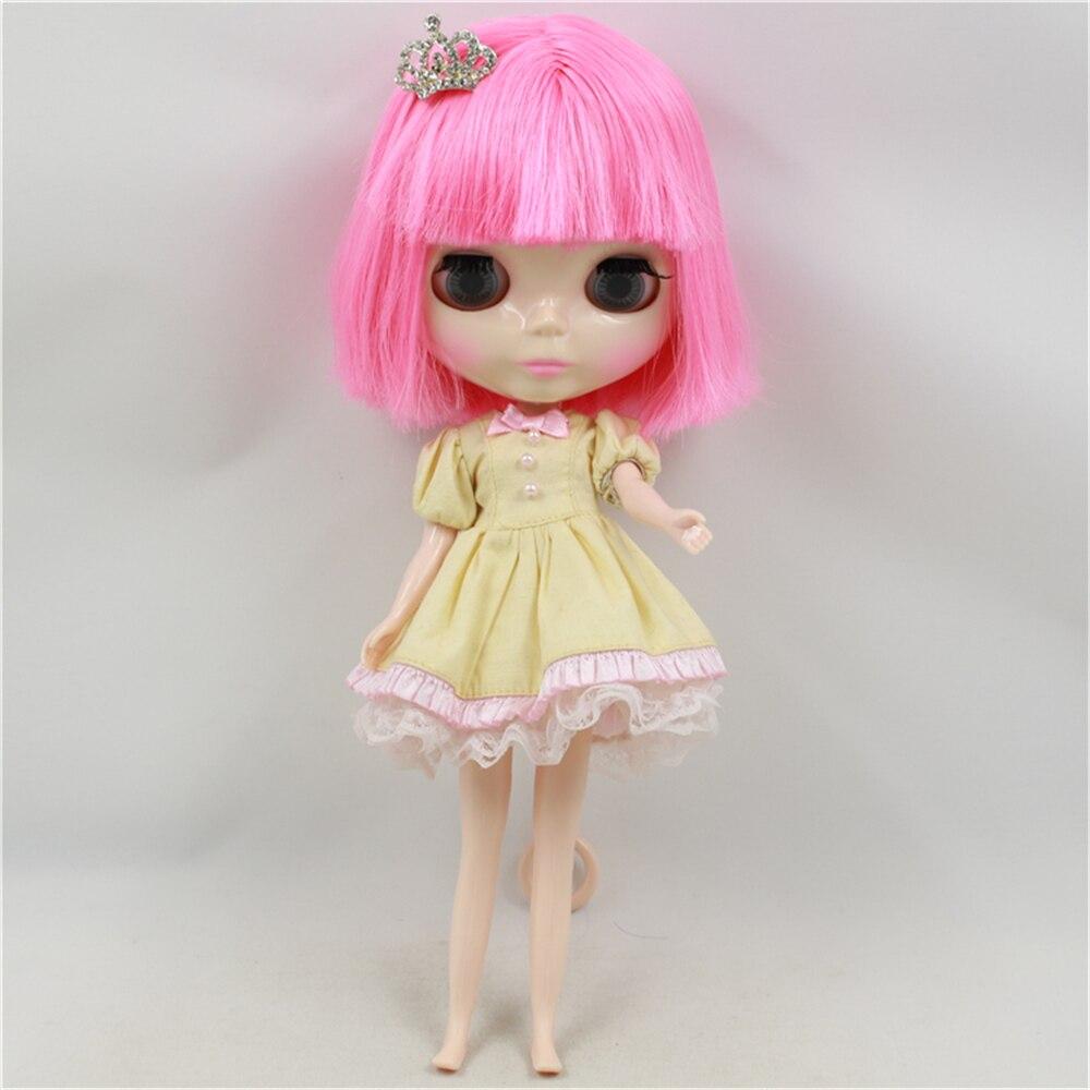 Fabriek Blyth Pop Naakt Pop Roze Kort Haar Met Pony Roze Mond Normale Body 4 Kleuren Voor Ogen Geschikt Voor DIY-in Poppen van Speelgoed & Hobbies op  Groep 1