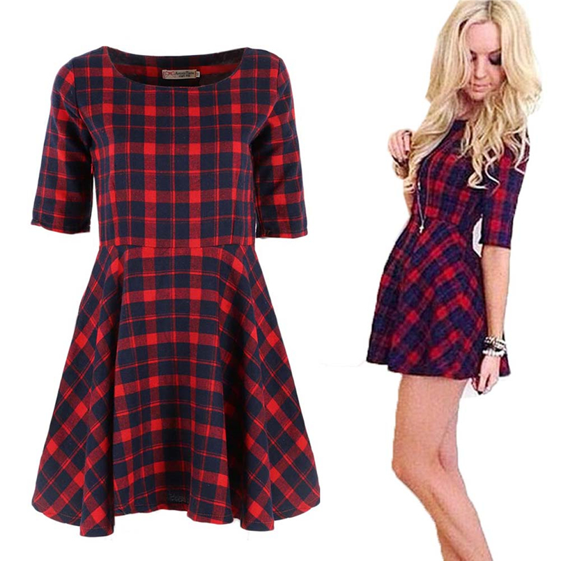 Compare Prices on Red Plaid Dress- Online Shopping/Buy Low Price ...