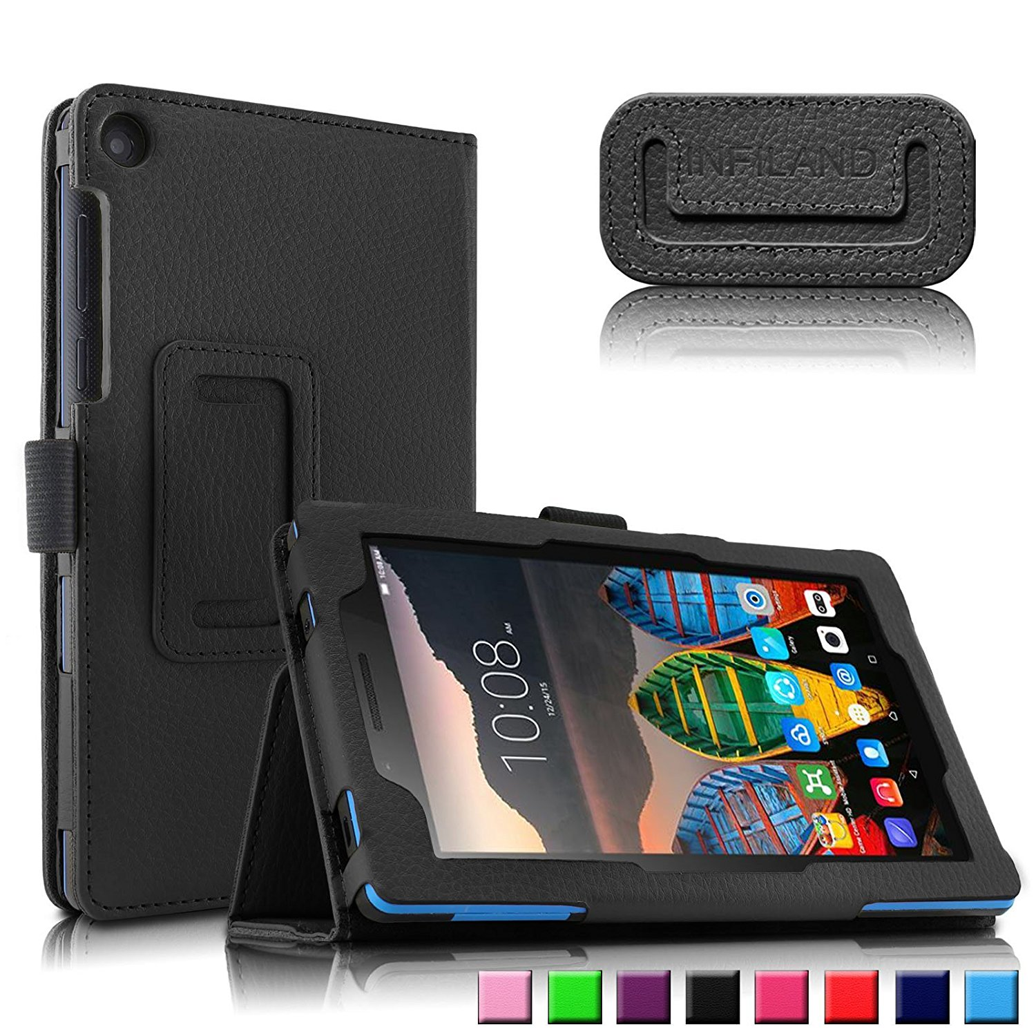 online store ab08f 3c18d US $4.96 |Cover for Lenovo Tab3 7 Essential 710F 7.0 Tablet Case Flip PU  Leather Case Protective Shell Case for Tab3 710i Funda Case-in Tablets & ...