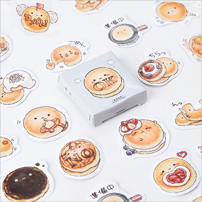 45 Pcs/lot Cute Bread Mini Paper Sticker Decoration DIY Scrapbooking Sticker Stationery Kawaii Diary Label Sealing Stickers