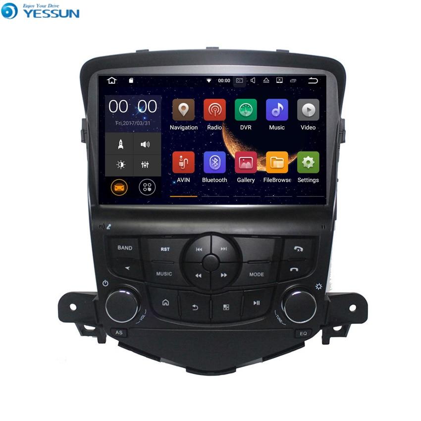 Lecteur de voiture Radio Android YESSUN pour CHEVROLET CRUZE 2008 ~ 2012 Radio stéréo multimédia Navigation GPS avec WIFI Bluetooth AM/FM