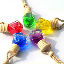 Car perfume pendant glass empty bottle car essential oil aromatherapy auto accessories decoration free shipping