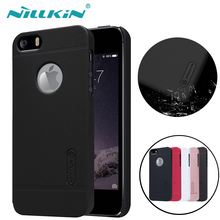 "NILLKIN for iPhone 5S SE Case NILKIN Super Frosted Shield Phone Back Cover for Apple iPhone SE 5S 4.0"") Gift Screen Protector"