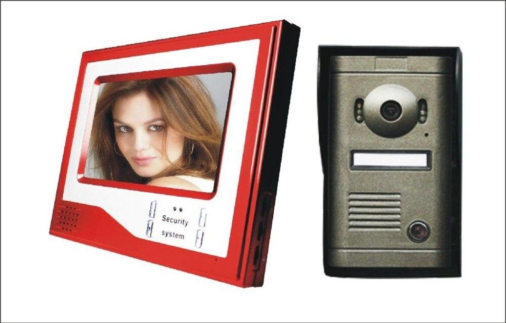 New Wired 7 inch Color Video font b Door b font Phone Intercom Doorbell System 1