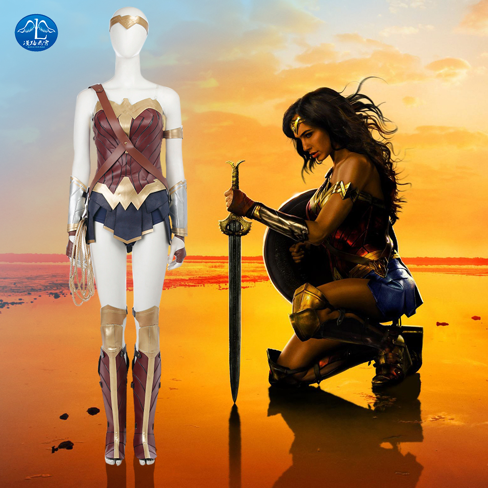 Justice League Cosplay Costume Update Version Wonder Woman Costume Halloween Carnival Superhero Costume For Women Custom Made