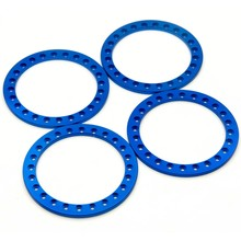 4 stks Legering Vervanging Wheel Beadlock Ring voor 2.2 inch Velg 1/10 RC Crawler Auto Blauw(China)