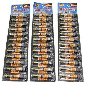 12 قطعة السائل قوي سوبر الغراء Cyanoacrylate المعادن جلدية المطاط البلاستيك النسيج الزجاج الخشب اللمس المدرسة المواد لاصق Bts