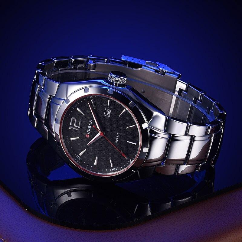 2017 CURREN Orologi da uomo Top Brand Luxury acciaio inossidabile - Orologi da uomo - Fotografia 5