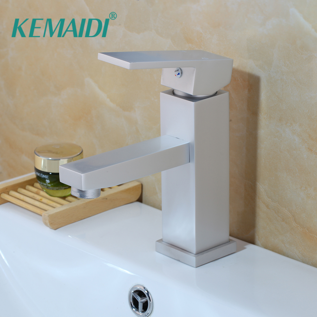 KEMAIDI Bathroom Single Handle Sink Faucet Basin Mixer Tap Deck Mounted Faucet Accessory Bathroom Faucets