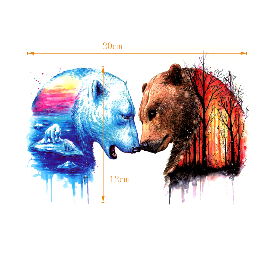 Oso polar PK oso en el bosque a prueba de agua Tatuajes temporales - Tatuaje y arte corporal - foto 2