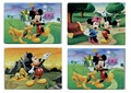 4Pcs/Lot different design Cartoon Paper Puzzles Toys For Children Mickey mouse Kids Educational Toy 3+ Years WYQ