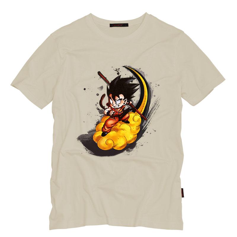 Son Goku Printing T-shirt Men's Fashion Japan Anime Dragon Ball T Shirt Super Saiyan Shirt Hot Tops Men Clothing