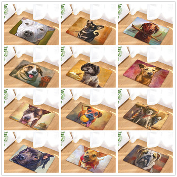 Doormat Carpets Oil Painting Dog Print Mats Floor Kitchen Bathroom Rugs 40X60  My Pet World Store