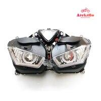 Мотоцикл запасных частей фары с глаза ангела HID проектор фары с проектом для Yamaha yzf r3 yzf r25 2013 2016 14 15