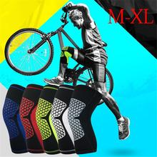 New Fitness Knee Brace Compression Support Sleeve Basketball Mountaineering Cycling Running Sports Protector Patella Unisex