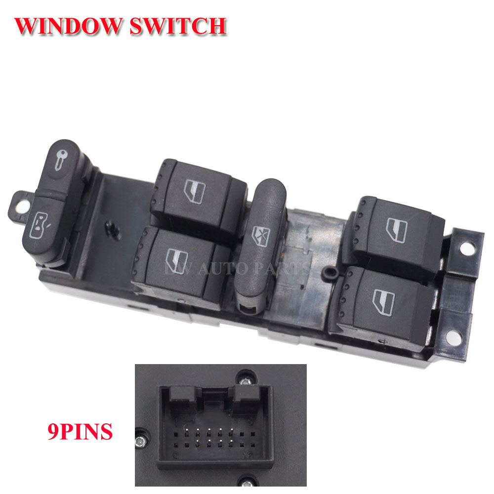 1J4959857B Master Window Switch Door Locking Button fit For Bora
